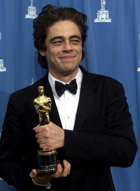 Benicio Del Toro at the 73rd Annual Academy Awards in Los Angeles.